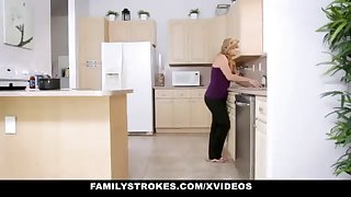 FamilyStrokes - Warm Step-Sister And Mother Tricked And Romped Away from StepBro