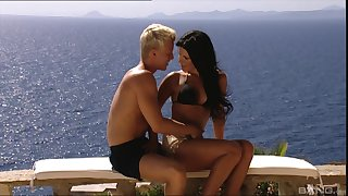 Seaside one one action with cock hungry Rihanna Samuel