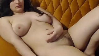Beautiful shy girl from Indian rubs her sexy succulent pussy