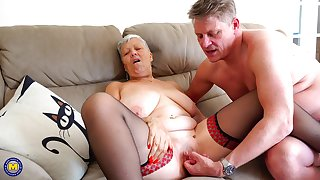 Brusque haired mature amateur granny Savana pounded after a blowjob