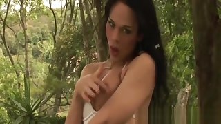 Shemale Tattyana Torres Strokes Their way Dig up