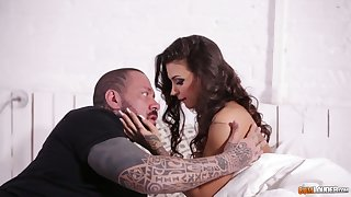Tattooed stud fucks pretty hot Italian babe Susy Revelry and cums on say no to ass