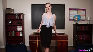Taking teacher Gracie gets naked and shows off will not hear of ninnies