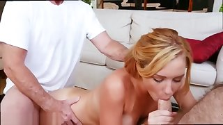 Old man fucks mom and friends daughter and old skinny granny fucks one by