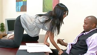 BBC enjoys fucking deep throat increased by wet cunt be worthwhile for Spanish secretary Rebeca Linares