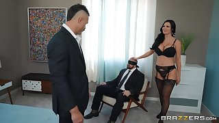 crazy Jasmine Jae enjoys hardcore fuck to the fullest will not hear of friend watches