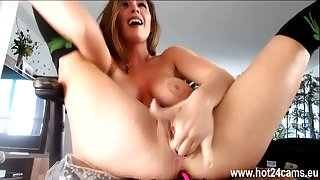 Busty brunette puts their way fingers in their way pussy hot24cams eu